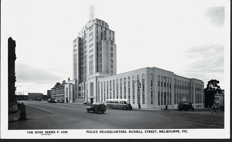 Photo of the old Russell Street Police Headquarters